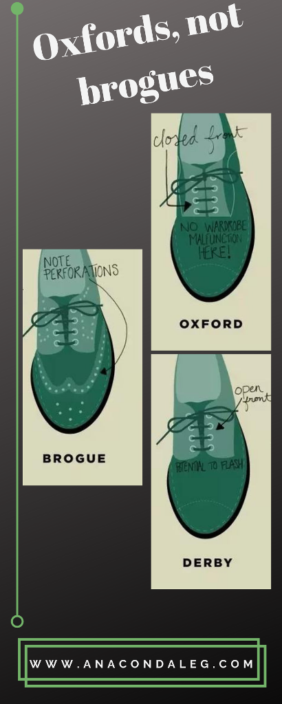 Oxford & Brogue, Know The Differences