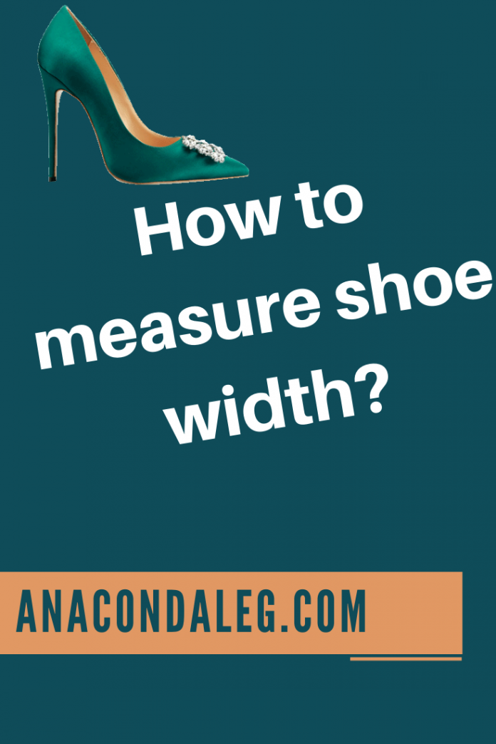 How to measure shoe width